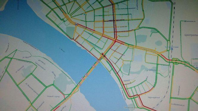мост пробки Кострома