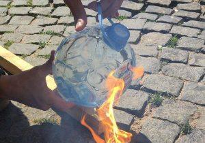 бутылка линза