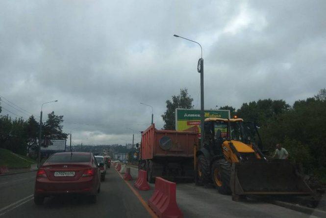 мост ремонт пробка