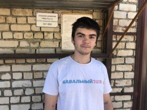 Александр Зыков на выходе из спецприемника 1 августа 2018