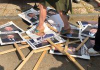 Портреты единоросов под ногами костромичей 2 сентября 2018