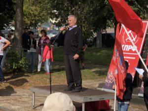 Юрий Еремин на митинге в Костроме 2 сентября 2018