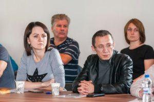 Юлия Мусина и Ринат Мусин на круглом столе в Костроме 29 07 2019