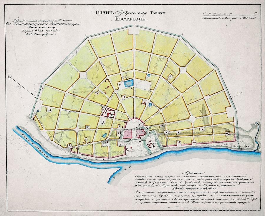 План Костромы