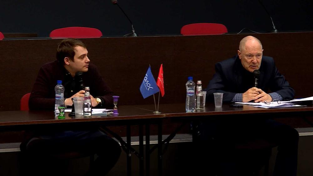 Александр Замарянов и Михаил Барабанов на круглом столе в Костроме 23 09 2020 Фото ГТРК
