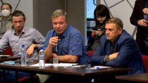 Максим Постников и Сергей Галичев на круглом столе в Костроме 23 09 2020 Фото ГТРК