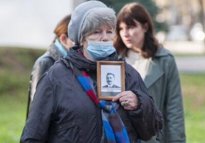 Нина Пугавко на Молитве памяти в Костроме 30 октября 2020