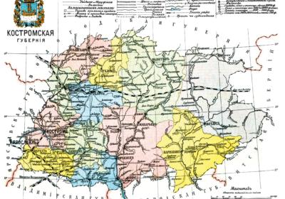 Карта Костромской губернии