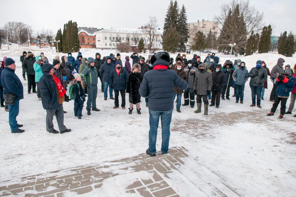 Митинг в Костроме 7 февраля 2021