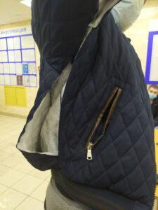 Порванная куртка Дмитрия Яичкина