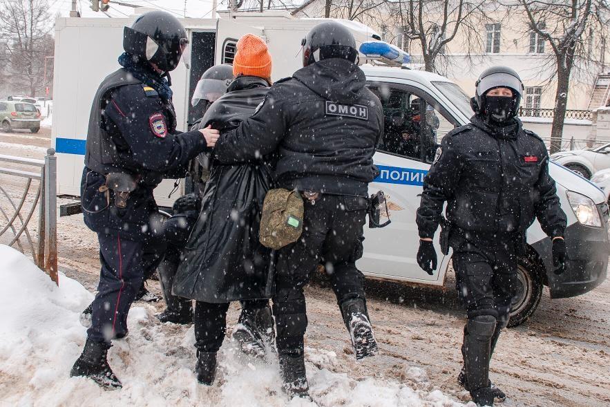 Задержание Арины Колесовой Кострома 31 января 2021
