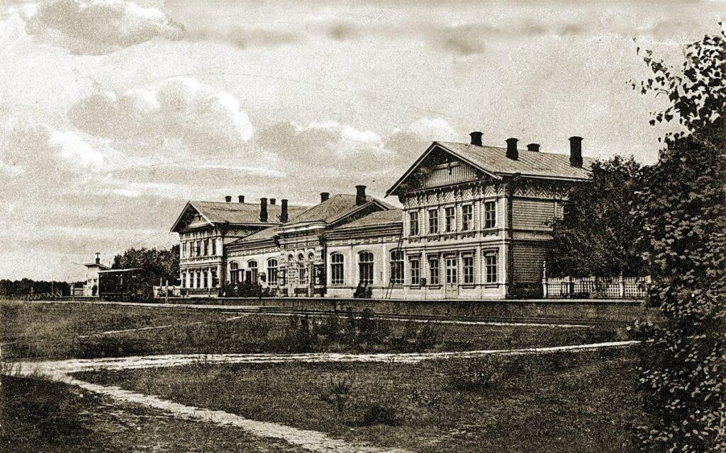 Железнодорожный вокзал в Костроме XIX век