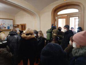 Протестующие в администрации Костромской области 1 марта 2021