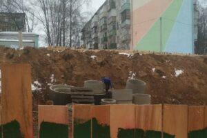 Стройка на улице Окружной в Костроме