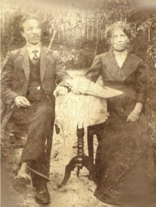 Борис Алексеевич Чижов с женой