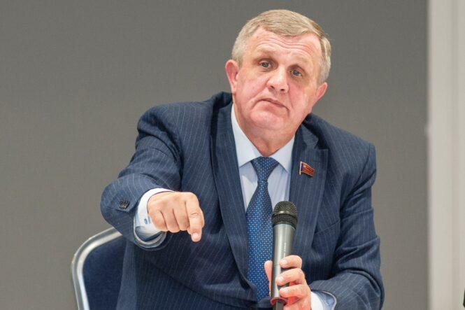 Депутат КПРФ Николай Васильевич Коломейцев в Костроме