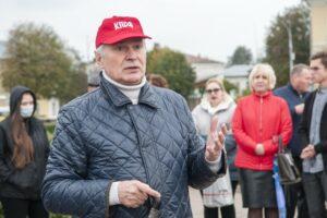 Валерий Петрович Ижицкий на Сусанинской площади в Костроме